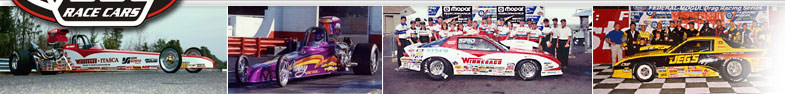 A photo strip of ed Quay race cars